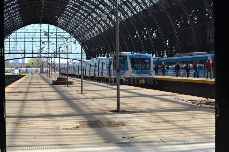 Estación de tren de Buenos Aires, la Argentina fotos de archivo libres de regalías
