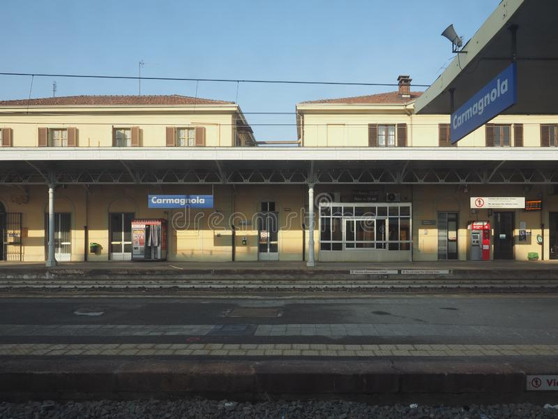 Estación de tren de Carmagnola fotografía de archivo