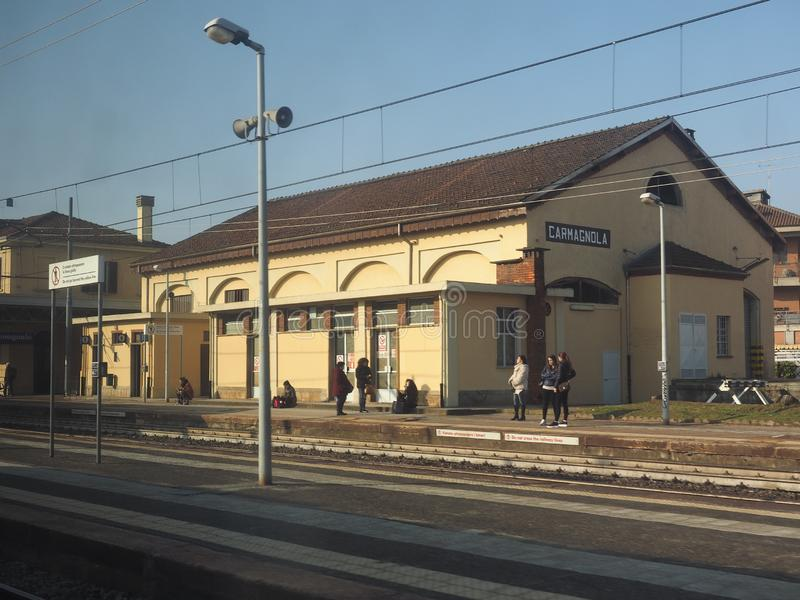 Estación de tren de Carmagnola foto de archivo