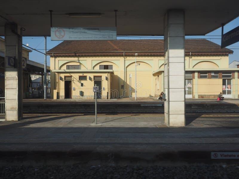 Estación de tren de Carmagnola fotos de archivo