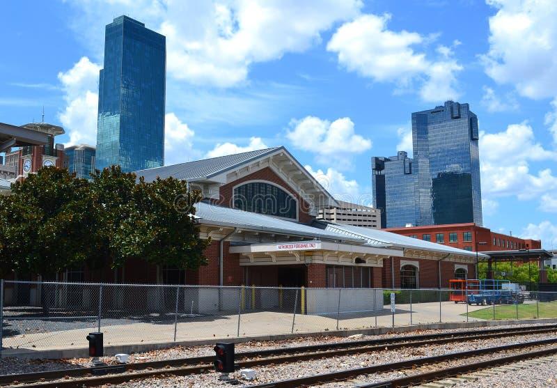 Estación de tren central en Fort Worth céntrico fotos de archivo libres de regalías