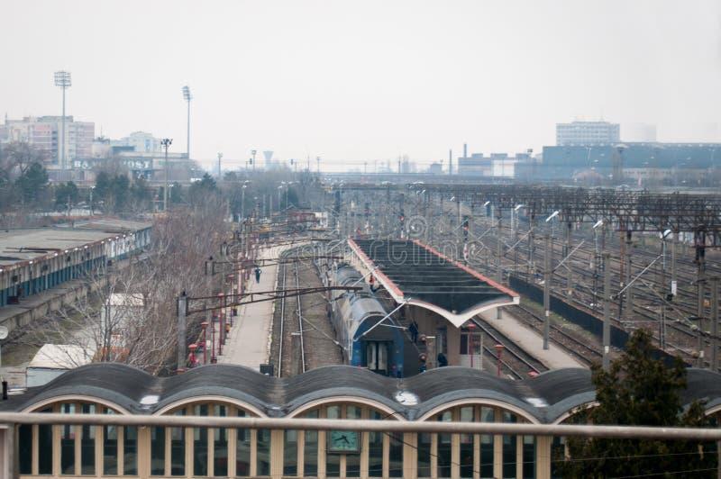 Estación de tren de Bucarest Basarab fotos de archivo