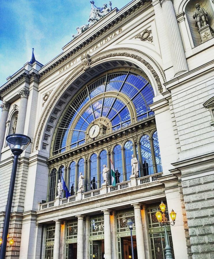 Estación de tren de Budapest imagenes de archivo