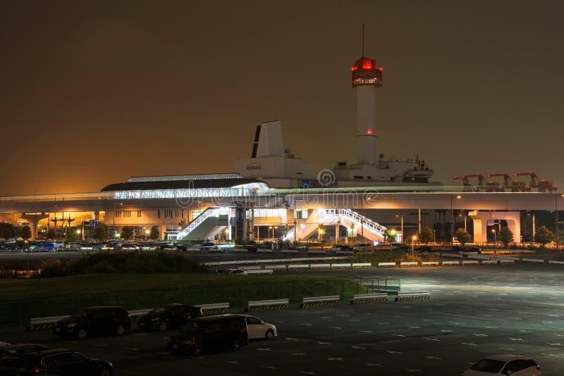 Estación de tren de Daiba en Tokio fotos de archivo