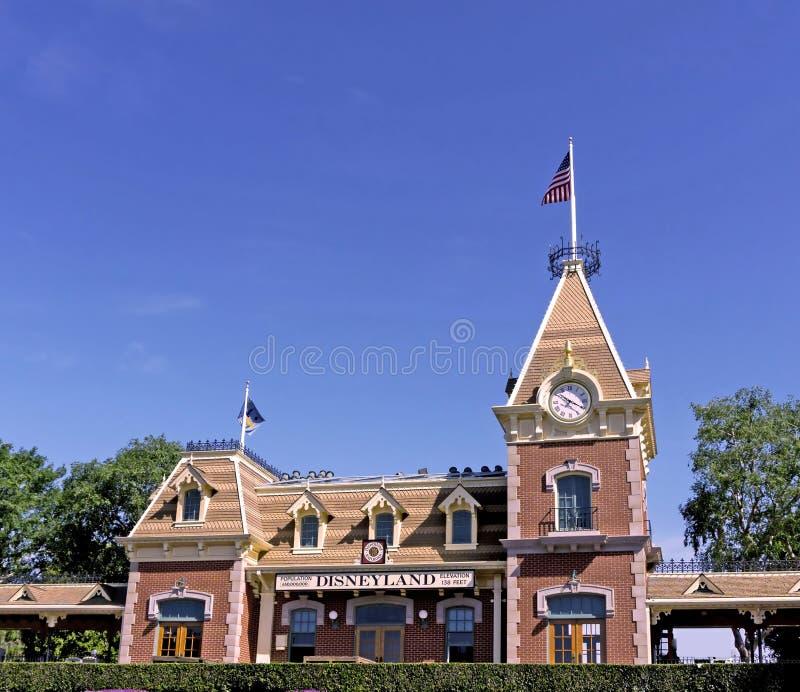 Estación de tren de Disneyland foto de archivo