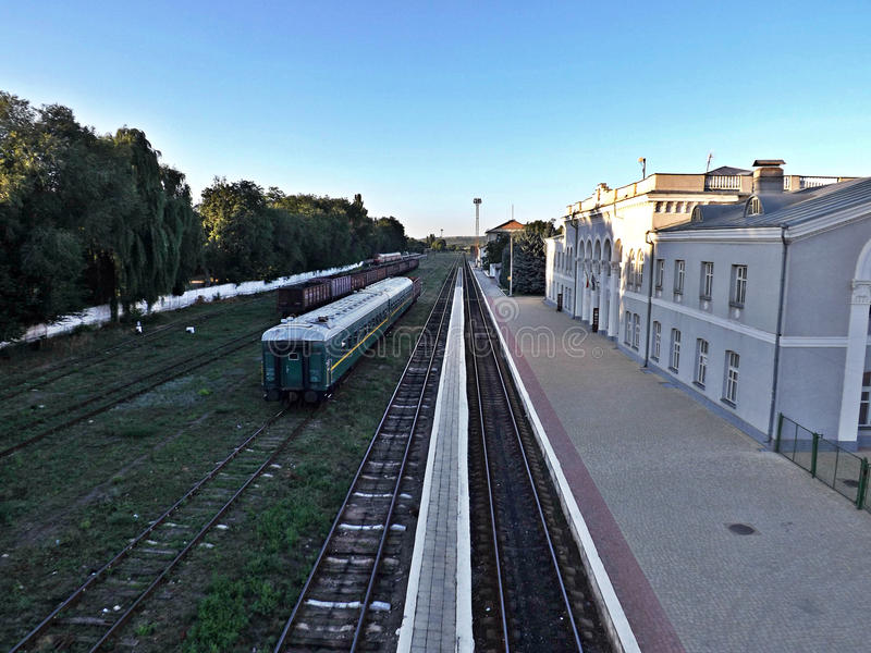 Estación de tren de Moldavia fotos de archivo libres de regalías