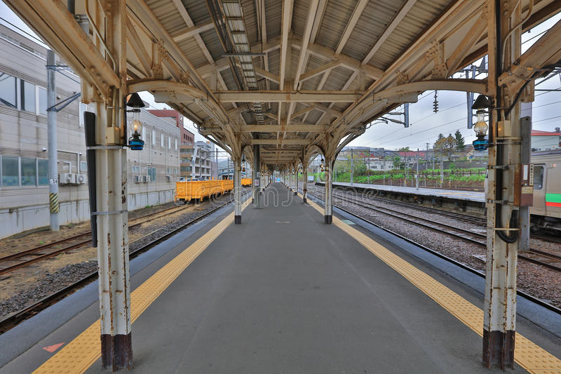 Estación de tren de Otaru en Sapporo foto de archivo libre de regalías