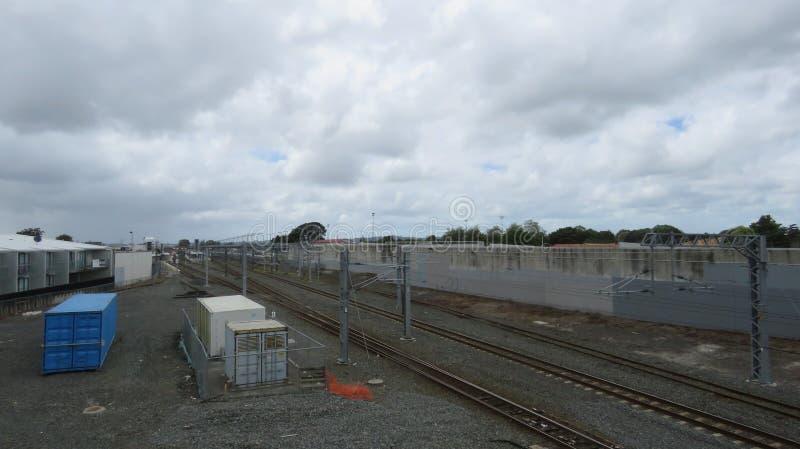 Estación de tren de Papakura fotos de archivo