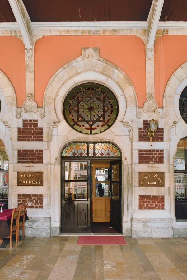 Estación de tren de Sirkeci en Estambul - terminal para expreso de Oriente, imagen de archivo libre de regalías