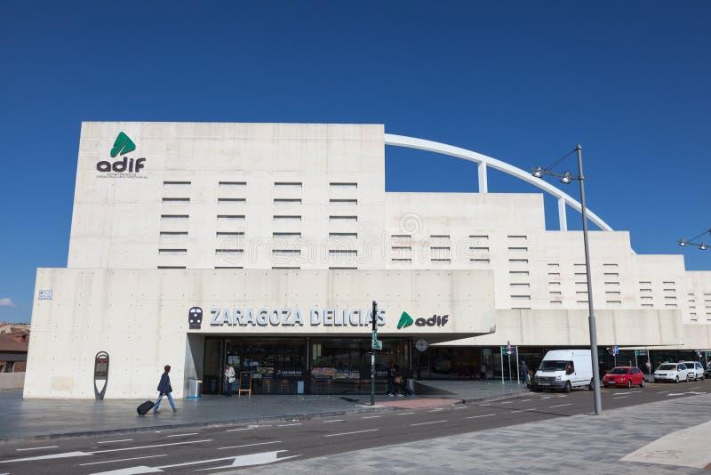 Estación de tren de Zaragoza Delicias imagenes de archivo