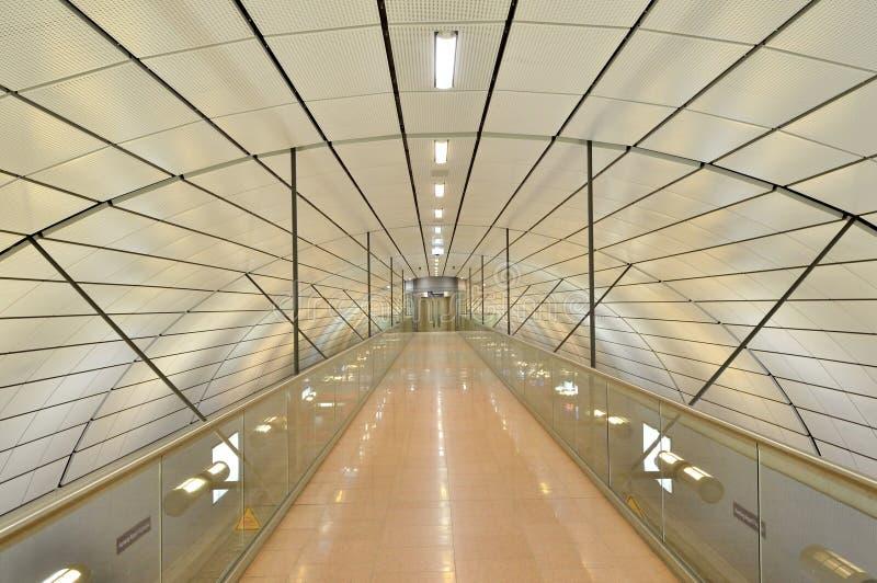 Estación de tren del aeropuerto de Hamburg International en Alemania foto de archivo libre de regalías