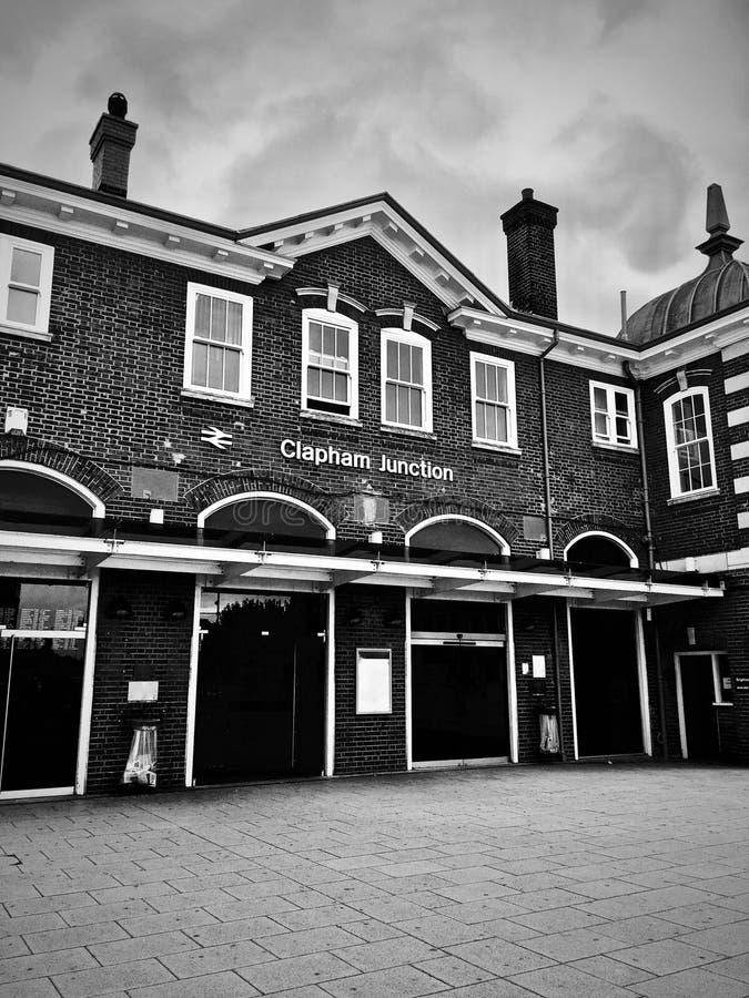 Estación de tren del empalme de Clapham foto de archivo libre de regalías
