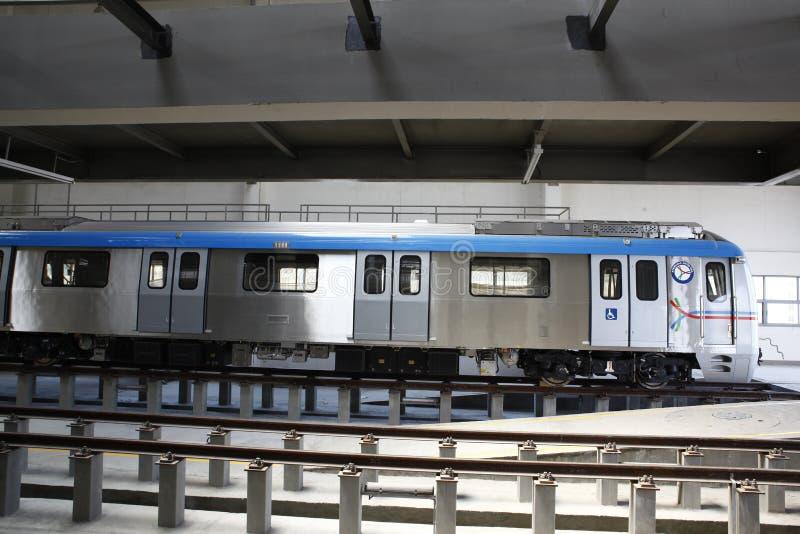 Estación de tren del metro imagenes de archivo