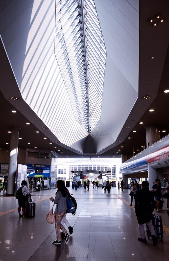 Estación de tren en el aeropuerto de Kansai fotografía de archivo libre de regalías