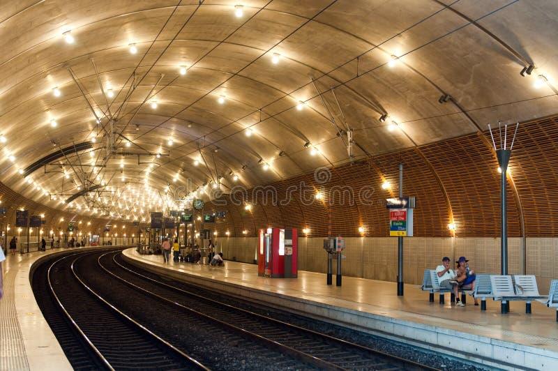 Estación de tren en Mónaco foto de archivo