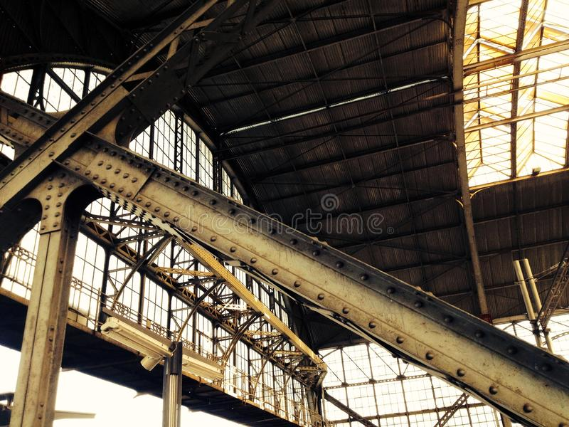 Estación de tren en Praga fotografía de archivo libre de regalías
