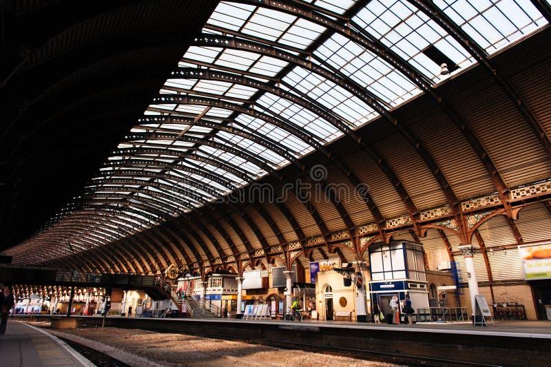 Estación de tren en York, Reino Unido fotos de archivo libres de regalías