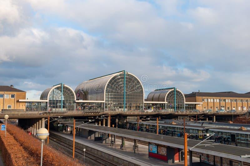 Estación de tren de Hoje Taastrup en Dinamarca imagen de archivo