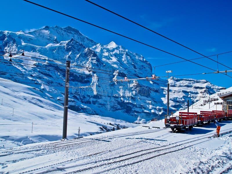 Estación de tren a Jungfraujoch, Suiza fotografía de archivo libre de regalías