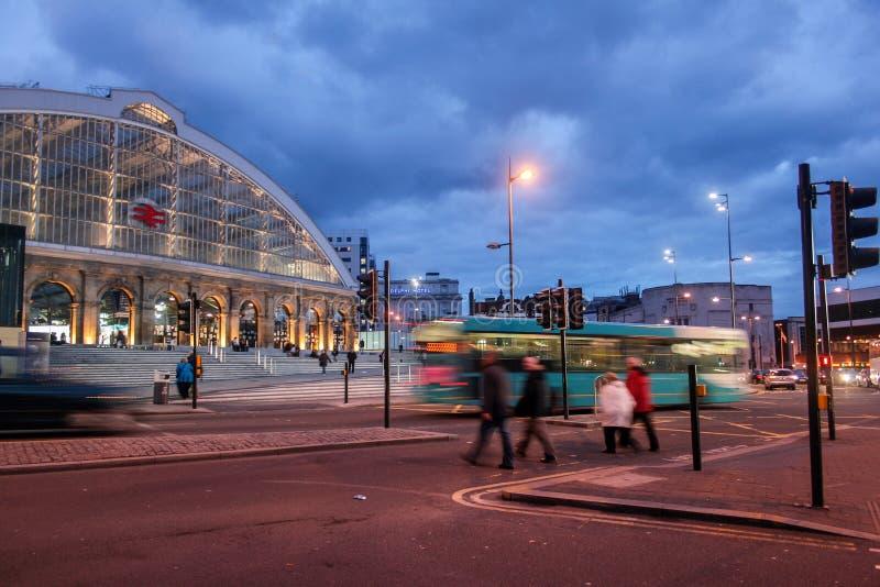 Estación de tren de la calle de la cal de Liverpool imagenes de archivo