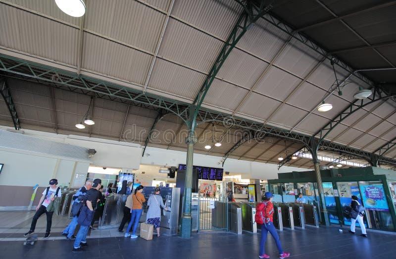 Estación de tren de la calle del Flinders Melbourne Australia foto de archivo libre de regalías