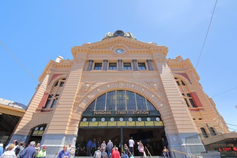 Estación de tren de la calle del Flinders Melbourne Australia fotografía de archivo