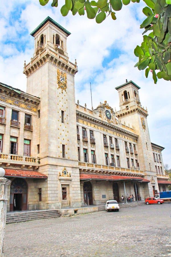 Estación de tren La Habana, Cuba imagenes de archivo