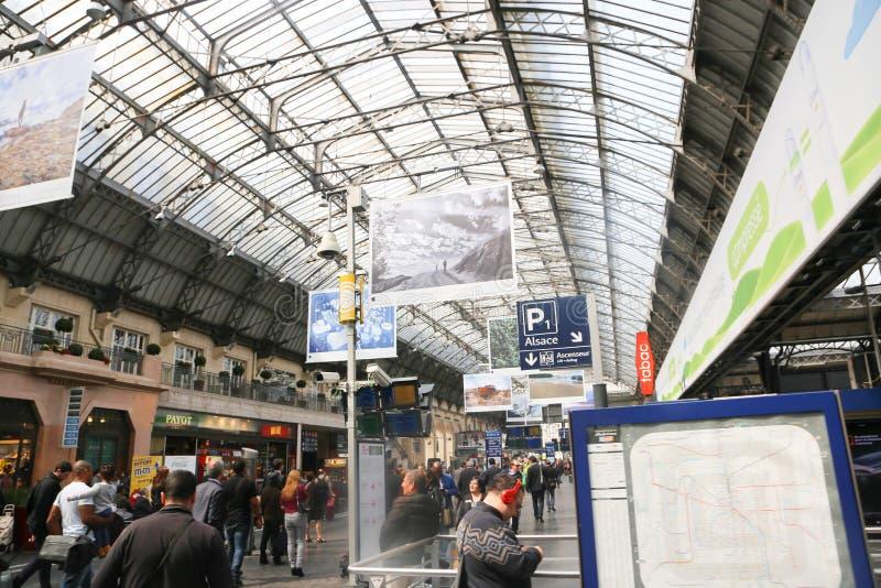 Estación de tren París fotografía de archivo