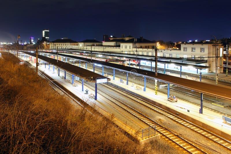 Estación de tren principal en Bratislava foto de archivo