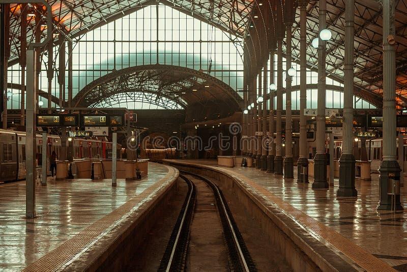 Estación de tren de Rossio, Lisboa imagenes de archivo