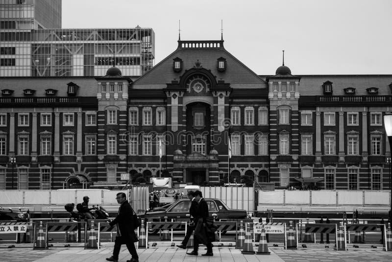 Estación de tren de Shin-Kurobe en Japón fotografía de archivo