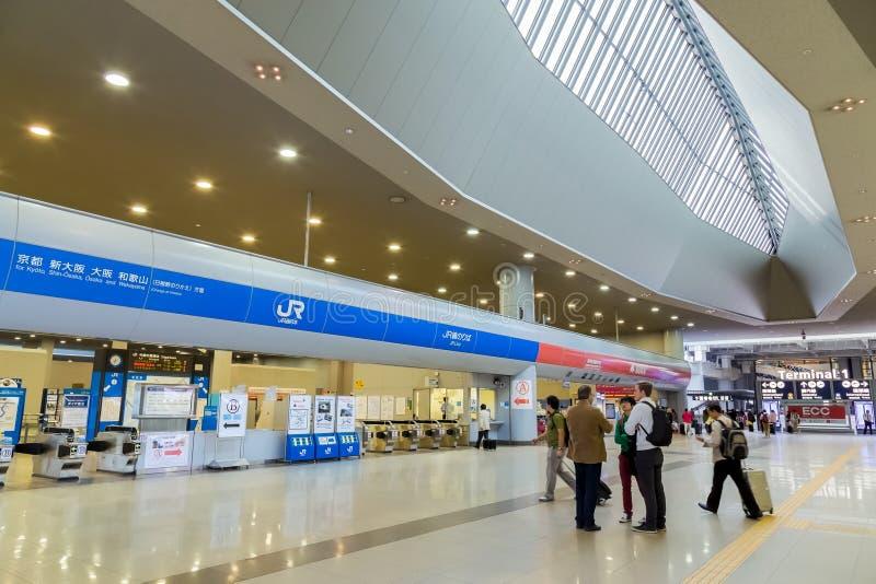 Estación del aeropuerto de Kansai en Osaka foto de archivo libre de regalías