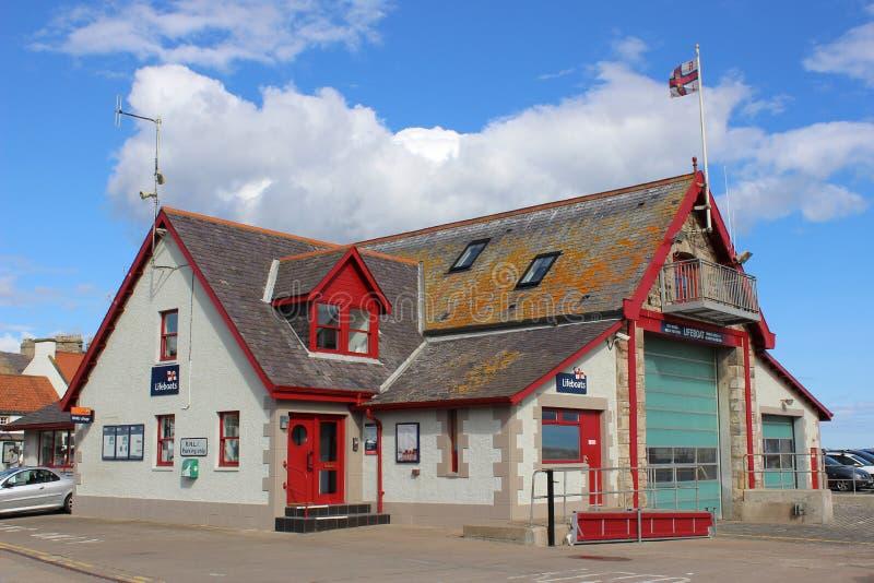 Estación del bote salvavidas de Anstruther, Fife, Scotand imágenes de archivo libres de regalías