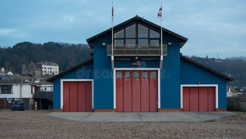 Estación del bote salvavidas, Hastings fotografía de archivo libre de regalías