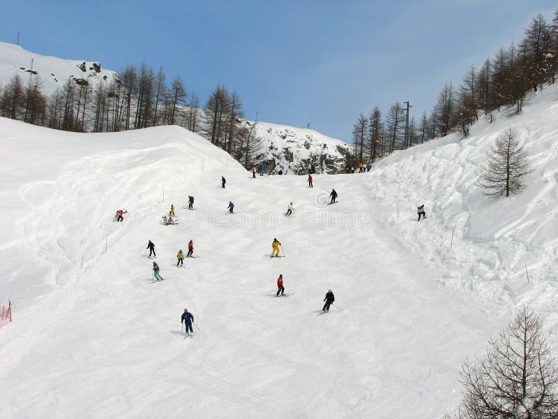 Estación del esquí fotografía de archivo libre de regalías