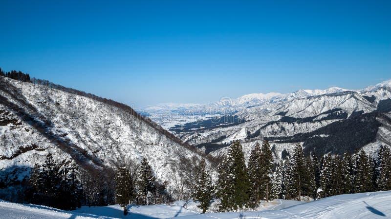 Estación del invierno en Yuzawa fotografía de archivo