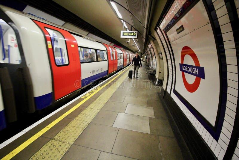 Estación del metro de Londres fotos de archivo libres de regalías