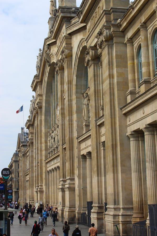 Estación del norte de París, Gare du Nord en París foto de archivo
