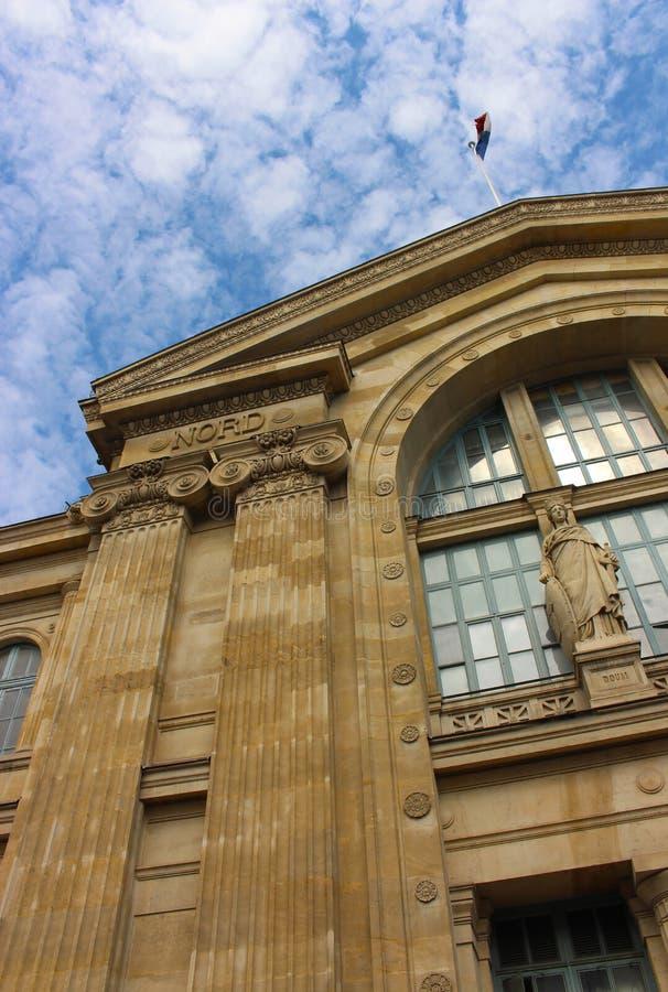 Estación del norte de París, Gare du Nord en París imagen de archivo