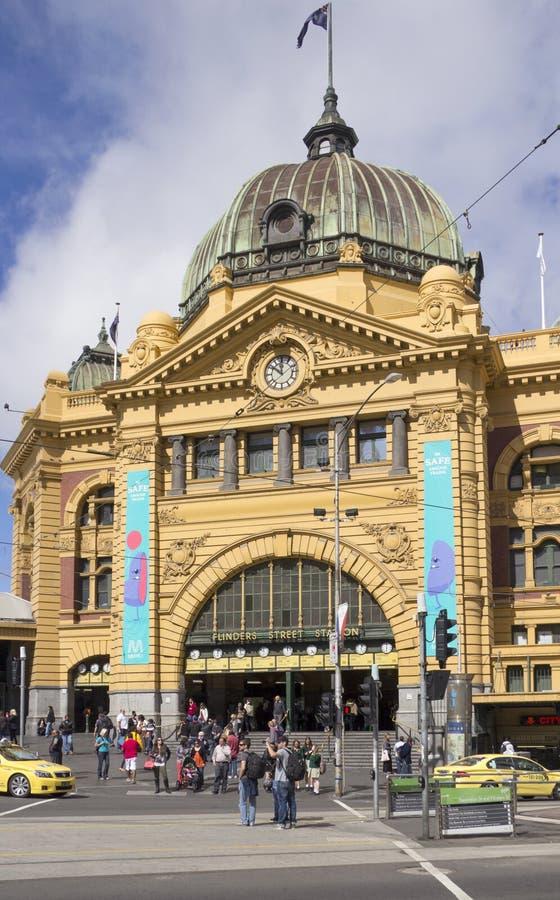 Estación del st del Flinders imagen de archivo libre de regalías