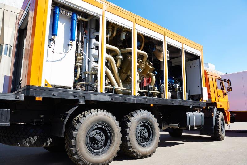 Estación diesel móvil del nitrógeno imagen de archivo