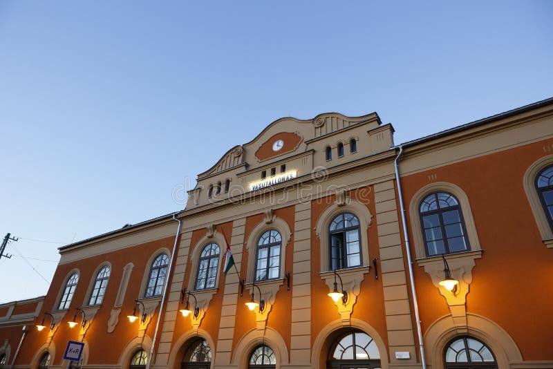 Estación en el VAC, Hungría del VAC, el 24 de noviembre de 2015 foto de archivo