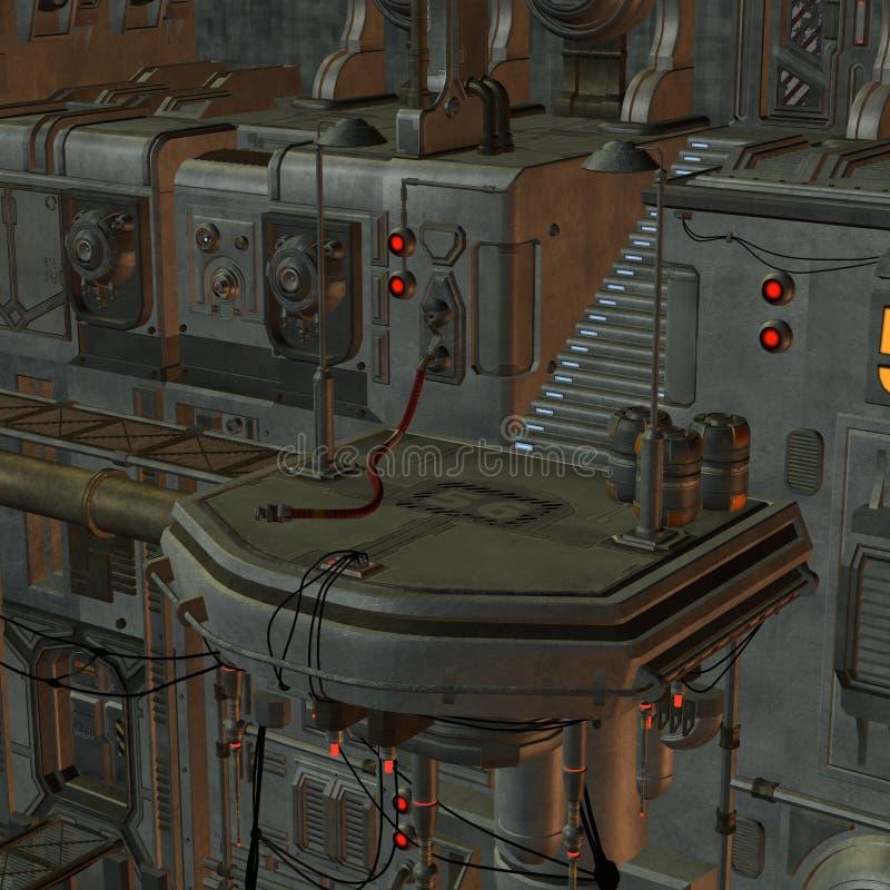 Estación espacial stock de ilustración