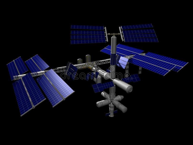 Estación espacial internacional stock de ilustración