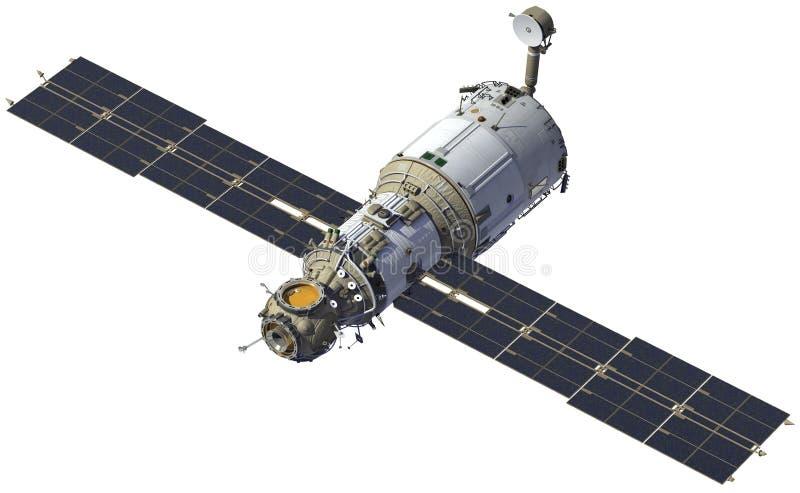 Estación espacial internacional Módulo Zvezda stock de ilustración
