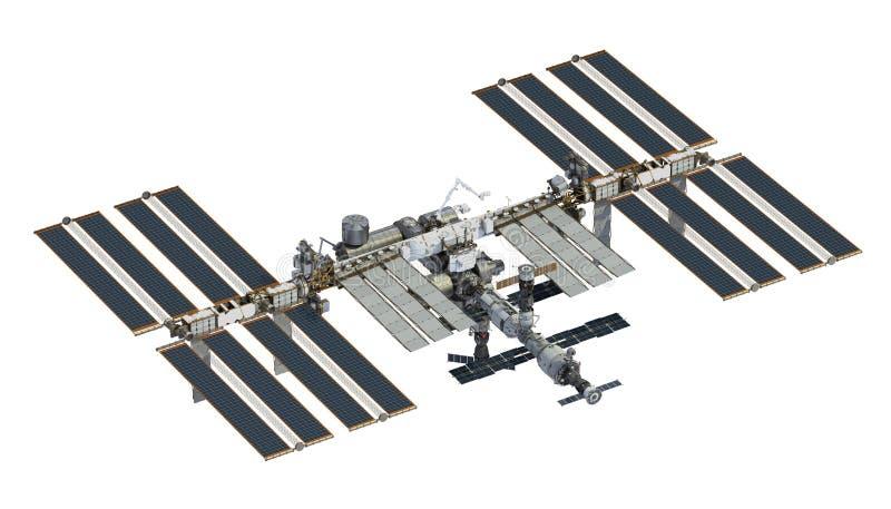 Estación espacial internacional sobre el fondo blanco ilustración del vector