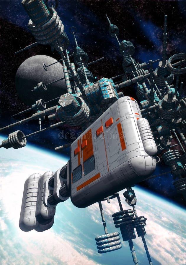 Estación espacial planetaria libre illustration