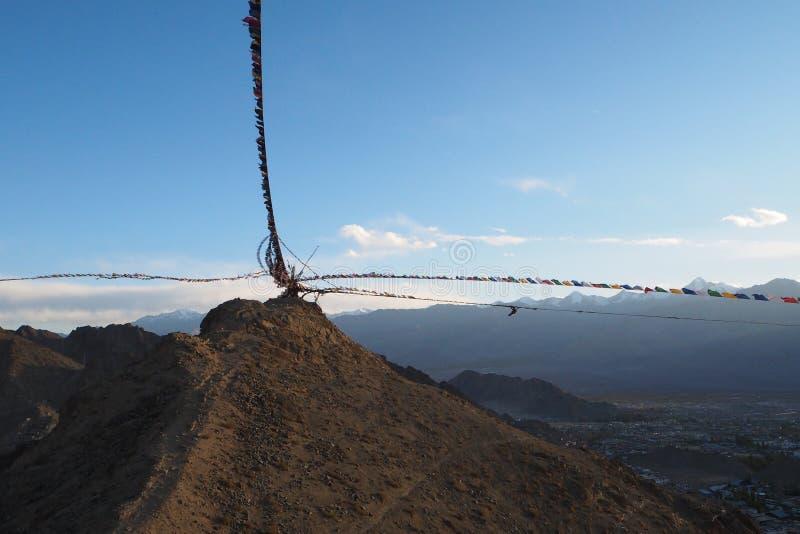 Estación hermosa del invierno en Leh Ladakh, la India foto de archivo