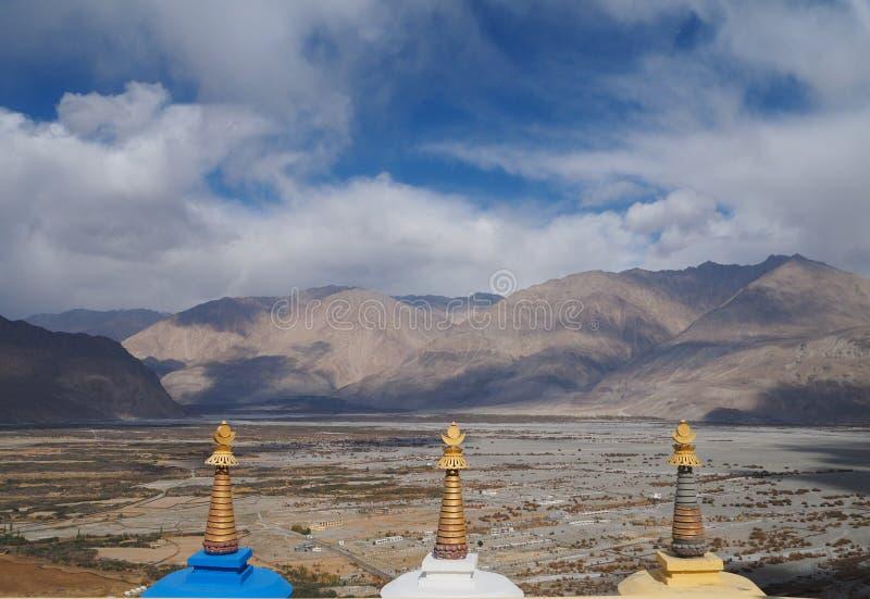 Estación hermosa del invierno en Leh Ladakh, la India imagen de archivo