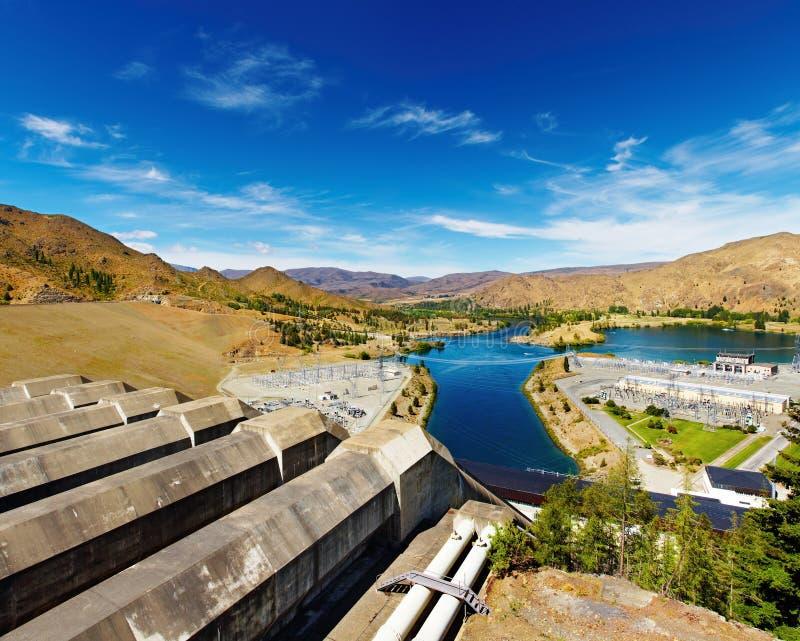 Estación hidroeléctrica fotografía de archivo libre de regalías
